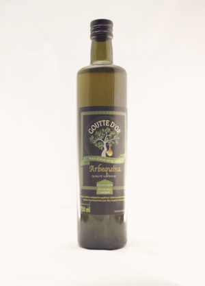 Goutte d'or Arbequina huile d'olive extra vierge